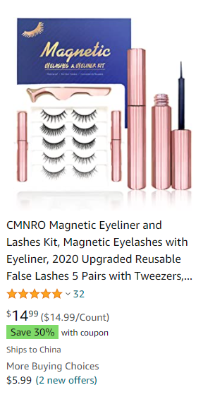 Magnetic Eyeliner and Magnetic Lashes
